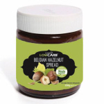 CarbZone Belgian Chocolate Hazelnut Spread with Stevia 250g Jar CLEARANCE Best Before 21 June 2018