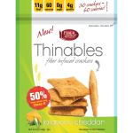 Fiber Gourmet Thinables Jalapeno Cheddar Crackers 168g bag