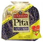 Toufayan Low Carb Pita bread 340g (6 loaves)